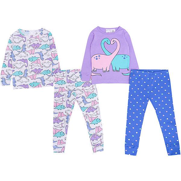 Пижама Carter's, 2 шт.Пижамы и сорочки<br>Характеристики товара:<br> <br>• состав ткани: 100% хлопок<br>• сезон: круглый год<br>• страна бренда: США<br> <br>Пижама изготовлена из натуральной ткани. Футболки с округлой горловиной, дополненной небольшим бантиком. Длинные рукава и брючины фиксируются манжетами и не перекручиваются во время сна. Комфортная посадка и свободный крой обеспечивают удобство. Материал дышащий.