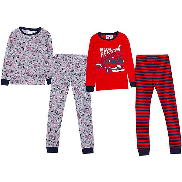 Пижама 2 шт carter's для мальчикаПижамы и сорочки<br>Характеристики товара:<br> <br>• состав ткани: 100% хлопок<br>• сезон: круглый год<br>• страна бренда: США<br> <br>Пижама изготовлена из натуральной ткани. Футболки с округлой горловиной, дополненной широким кантом. Длинные рукава и брючины фиксируются манжетами и не перекручиваются во время сна. Комфортная посадка и свободный крой обеспечивают удобство. Материал дышащий.
