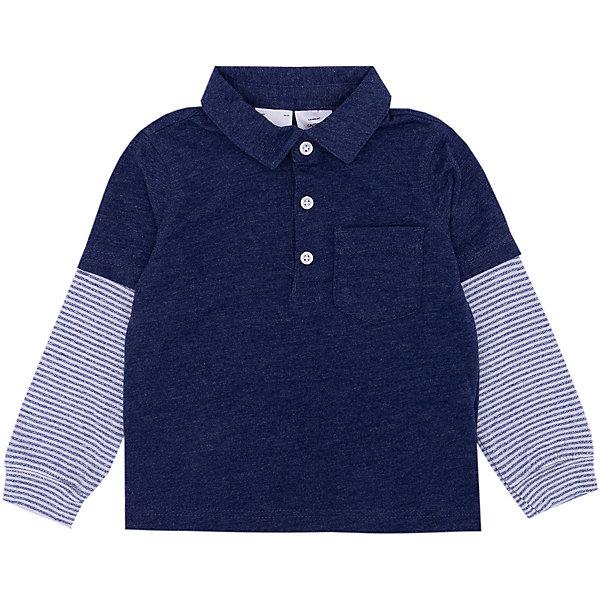 Рубашка поло carter's для мальчикаФутболки с длинным рукавом<br>Характеристики товара:<br> <br>• состав ткани: 60% хлопок, 40% полиэстер/рукава 75% хлопок, 25% полиэстер<br>• сезон: демисезон<br>• застёжка: пуговицы<br>• страна бренда: США<br> <br>Рубашка дополнена классическим воротником поло. На груди накладной карман. Рукава от линии локтя контрастного цвета с узором в полоску. Материал позволяет телу дышать.