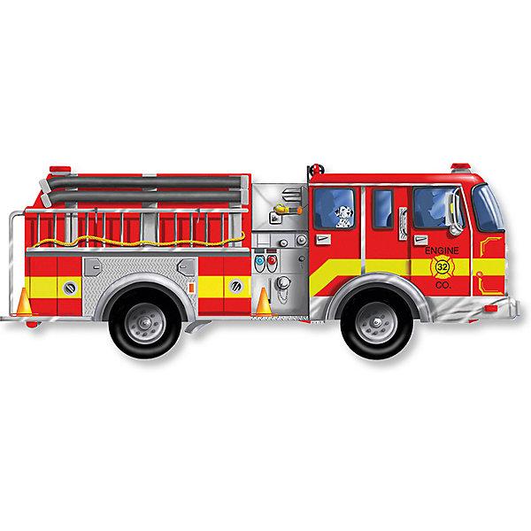 Купить Напольный пазл Melissa&Doug Пожарная машина 24 элемента, Melissa & Doug, США, Унисекс