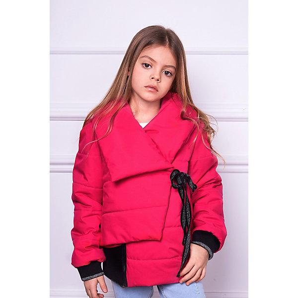 Демисезонная куртка ChoupetteВерхняя одежда<br>Характеристики товара:<br> <br>• состав ткани: 100% полиэстер<br>• подкладка: 95% хлопок, 5% полиуретан/52% полиэстер, 48% вискоза<br>• утеплитель: 100% полиэстер<br>• сезон: демисезон<br>• застёжка: молния<br>• страна бренда: Россия<br> <br>Куртка с запахом и завязками контрастного цвета. Рукава с ребристыми манжетами не перекручиваются при носке. Легко надевается и обеспечивает свободу движений. Защищает от холодного ветра.