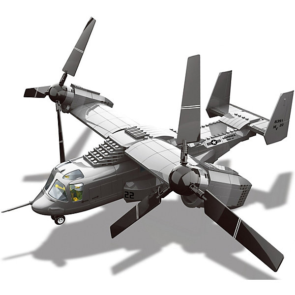 Wange Конструктор Конвертоплан V-22 Osprey, 593 детали