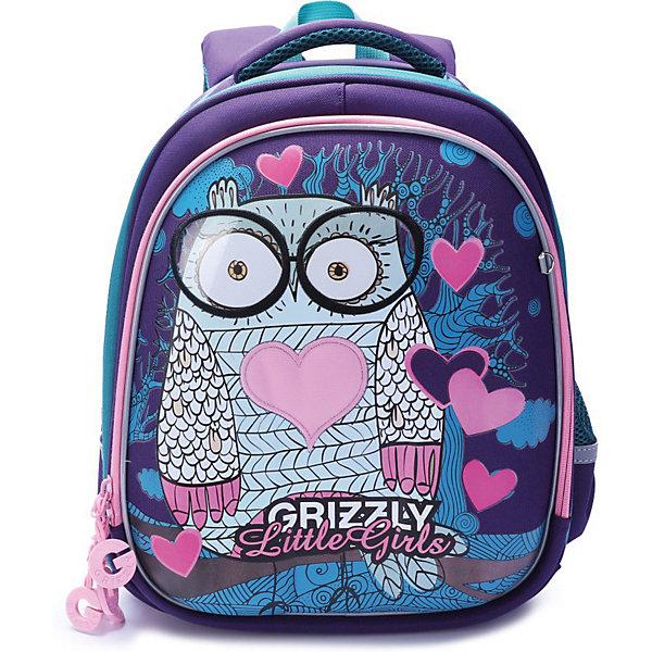 Купить Рюкзак школьный Grizzly, фиолетовый, Китай, Женский