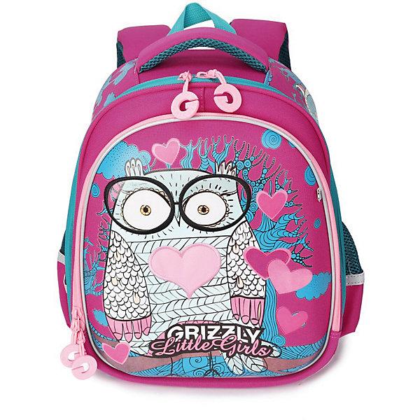 Купить Рюкзак школьный Grizzly, фуксия, Китай, Женский