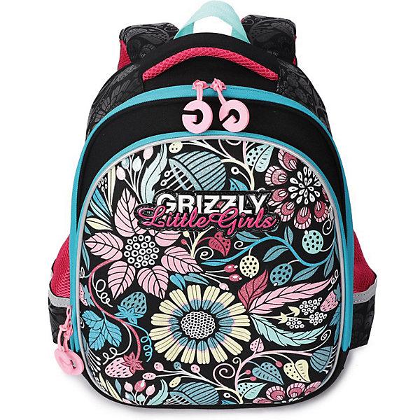 Купить Рюкзак школьный Grizzly, черный, Россия, Женский