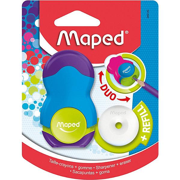 Maped Канцелярский набор 2в1 Loopy с точилкой и ластиком