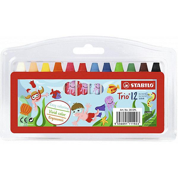 Купить Набор масляных пастелей Stabilo 12 цветов, Германия, разноцветный, Унисекс