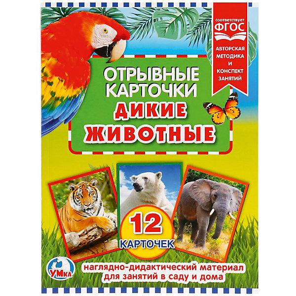 Купить Отрывные карточки Умка «Дикие животные», Россия, Унисекс