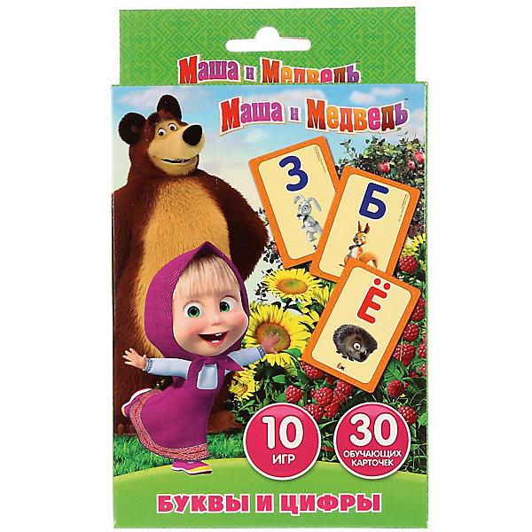 Умка Карточки развивающие Умка «Маша и Медведь. Учим алфавит и цифры» развивающие карточки умка английский язык