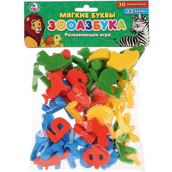 Мягкие обучающие буквы Умка «Зооазбука»Наборы с буквами<br>Характеристики товара:<br><br>• материал: картон<br>• в комплекте: 33 буквы, 30 фигурок животных<br>• размер буквы: 3,5х3 см<br><br>Обучающая игра для детей, состоящая из мягких фигурок животных и букв. Способствует развитию мелкой моторики рук, памяти, логического мышления, поможет в обучении ребенка буквам и словам.