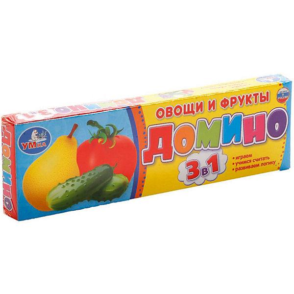 Домино 3 в 1 Умка «Овощи и фрукты»