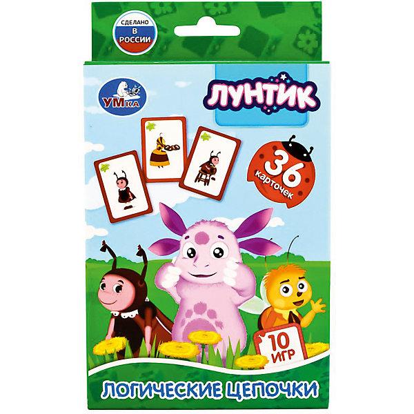 Умка Карточки развивающие Умка «Лунтик. Логические цепочки» карточки развивающие умка лунтик логические цепочки 36 карточек в кор в кор 50шт