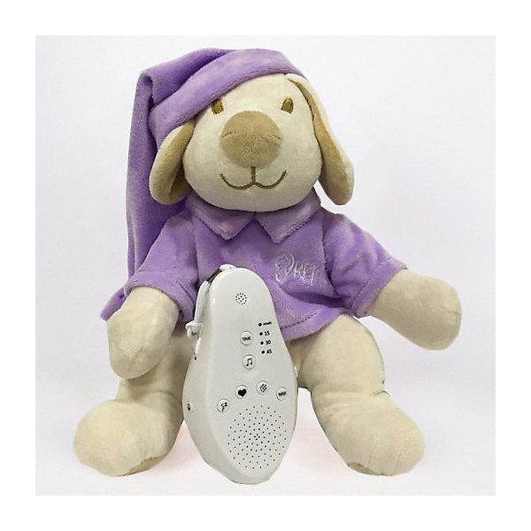 Купить Игрушка для сна Собачка DrЁma BabyDou с белым и розовым шумом, фиолетовый, Drema BabyDou, Россия, Унисекс