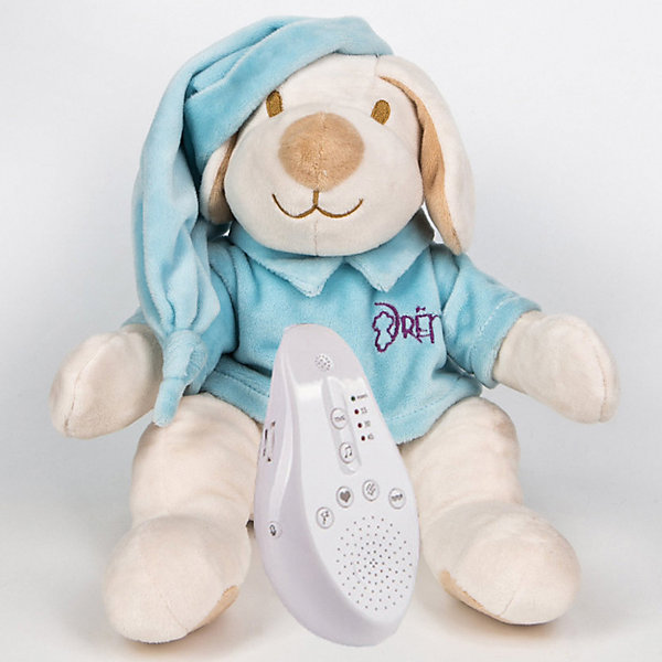 Купить Игрушка для сна Собачка DrЁma BabyDou с белым и розовым шумом, голубой, Drema BabyDou, Россия, Унисекс