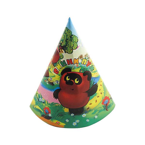 Веселый праздник Колпаки Винни-Пух, 6 штук