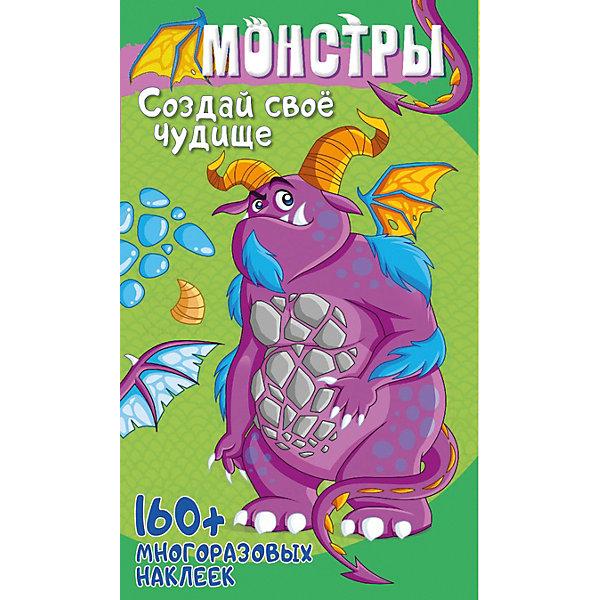 Купить Развивающая книга «Монстры и роботы с наклейками. Монстры», ND Play, Россия, Унисекс