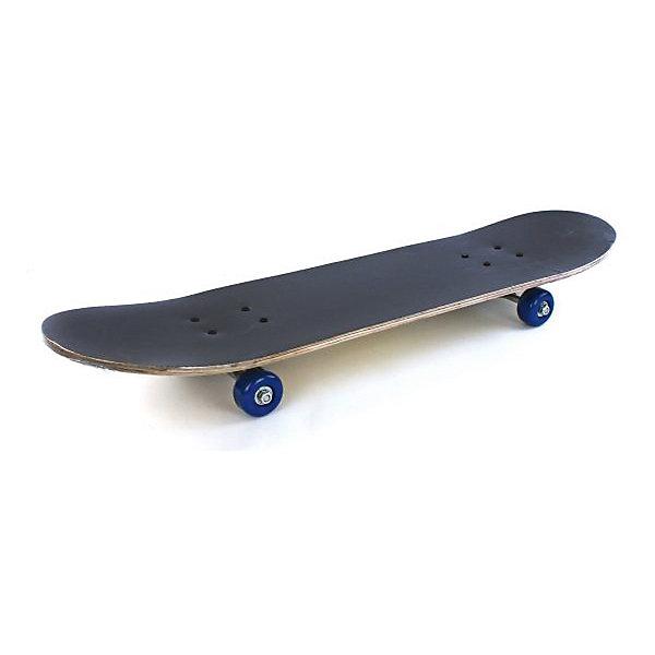 Скейтборд Наша игрушка Skull, черный