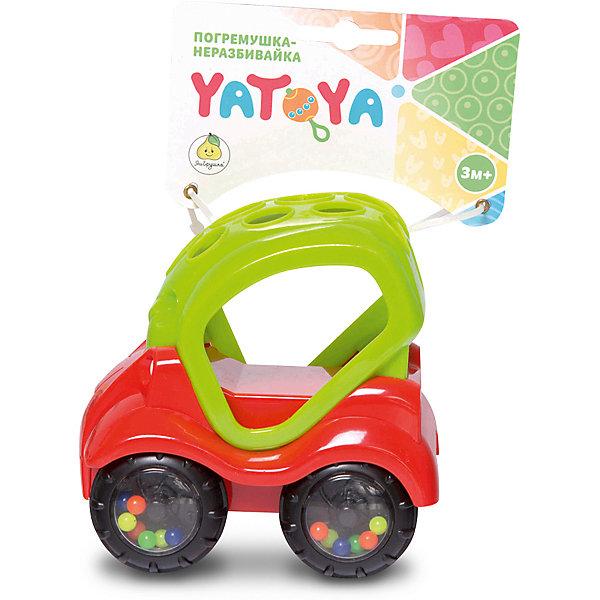 Машинка-неразбивайка ЯиГрушка Yatoya, зелёно-красная
