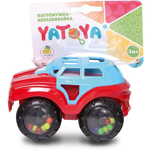 Машинка-неразбивайка ЯиГрушка Yatoya, сине-красная фото