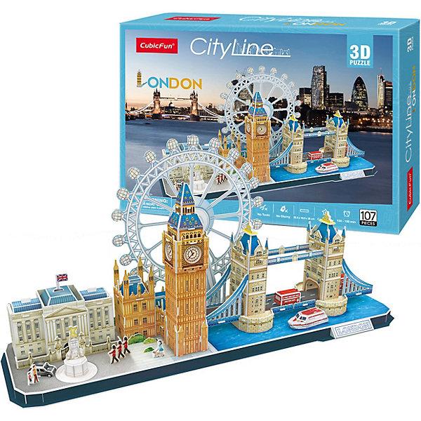 Сборная модель CubicFun Достопримечательности Лондона, 107 деталейМодели из бумаги<br>Характеристики:<br><br>• комплектация: 107 деталей; инструкция<br>• размер собранной модели: 53,5х16,5х26 см<br>• развивает: пространственное мышление, сообразительность, ловкость рук, воображение<br>• материал: бумага, пена EPS<br>• упаковка: картонная коробка<br>• страна бренда: Китай<br><br>С помощью деталей набора ребенок соберет реалистичную 3D модель достопримечательностей Лондона. Детали набора легко выдавливаются из листа-основы. Клея и специальных инструментов не требуется.