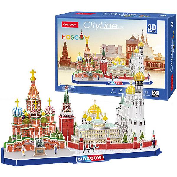 CubicFun Сборная модель Достопримечательности Москвы, 204 детали