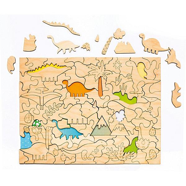 Купить Пазл-раскраска Bradex «Динозавры», Россия, Унисекс