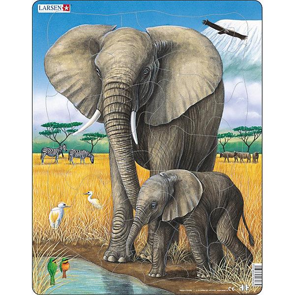 Larsen Пазл Larsen Слон цена