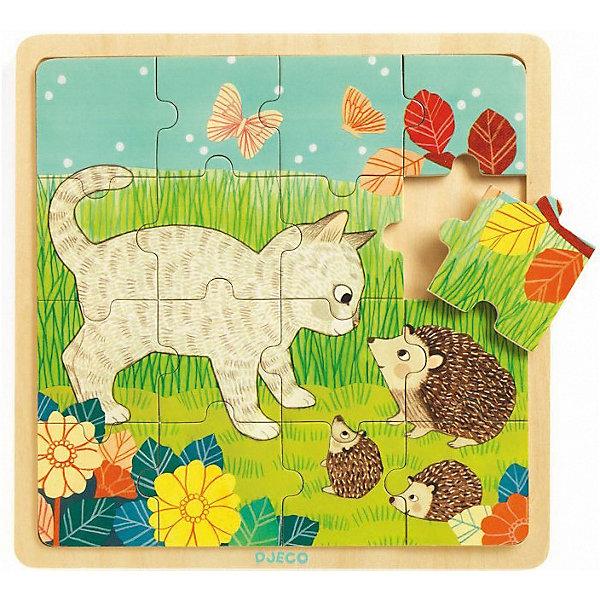 DJECO Деревянный пазл Игра в траве