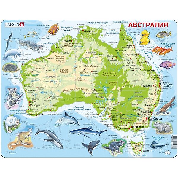 Larsen Пазл Животные Австралии, на русском языке