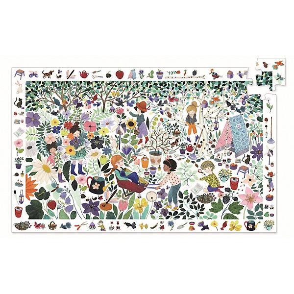 DJECO Пазл на наблюдательность DJECO Цветочный сад, 100 деталей конструктор djeco сад 06643