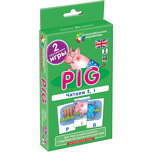 АЙРИС-пресс Занимательные карточки Английский язык: Поросенок (Pig) Level 2, Клементьева Т.