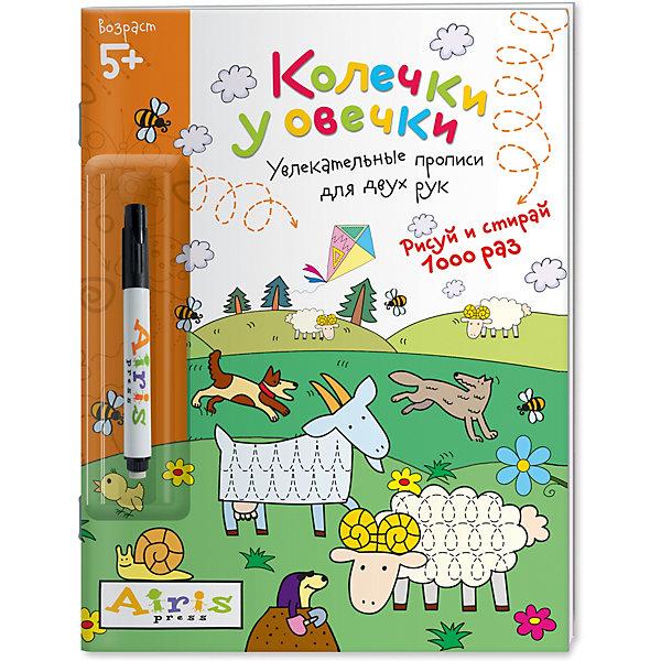 АЙРИС-пресс Многоразовая раскраска-прописи Развивай-ка Колечки у овечки, Куликова Е.