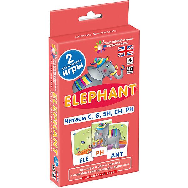 АЙРИС-пресс Занимательные карточки Английский язык: Слон (Elephant) Level 4, Клементьева Т.