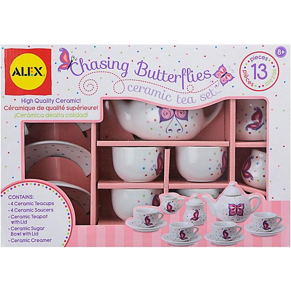 Купить 709BW Чайный сервиз Поймай бабочку , керамика, 13 предм., от 8 лет, ALEX, США, Унисекс