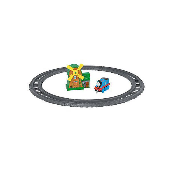 Mattel Железная дорога Fisher-Price Thomas and Friends Track Master Томас и ветряная мельница