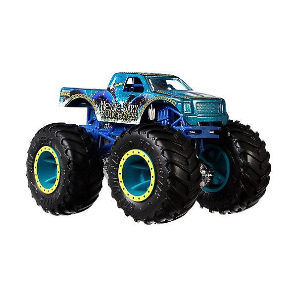 Базовая машинка Hot Wheels Monster Trucks, Nessie-Sary RoughnessМашинки<br>Характеристики товара:<br><br>• материал: пластик, металл<br>• в комплекте: машинка, коллекционное колесо <br>• масштаб: 1:64<br>• упаковка: блистер на картоне<br>• страна бренда: США<br><br>Машинка создана по мотивам фильма «Монстр-траки». У неё большие колёса, на полной скорости обладает разрушительной атакой. Плавно ускоряется. Развивает образное мышление, воображение, фантазию и логику.