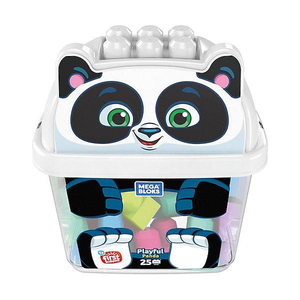 Конструктор Mega Bloks Животные Панда, 25 деталейКонструкторы для малышей<br>Характеристики товара:<br> <br>• материал: пластик<br>• количество деталей: 25<br>• серия: Животные<br>• упаковка: пластиковый контейнер<br>• страна бренда: США<br> <br>Конструктор позволяет собрать и построить всё, что захочет ребёнок. Различные замки, башни любой высоты и даже целые крепости. Строить можно даже на крышке контейнера. А по окончании игры все детали легко собираются и хранятся в упаковке в виде милого животного. Совместим с другими наборами Mega Bloks. Развивает мелкую моторику, которая формирует речевые навыки, образное восприятие, внимание, пространственное мышление, а также фантазию.