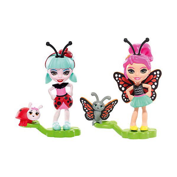 Mattel Игровой набор Enchantimals Парк лепестков Бакси Бабочка и Ладелиа Божья Коровка