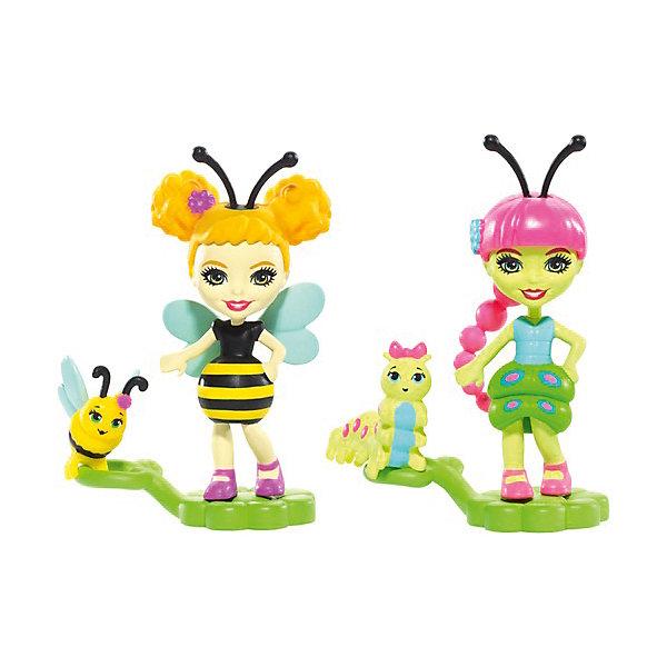 Mattel Игровой набор EnchantimalsПарк лепестков Кей Гусеница и Беатрис Пчёлка