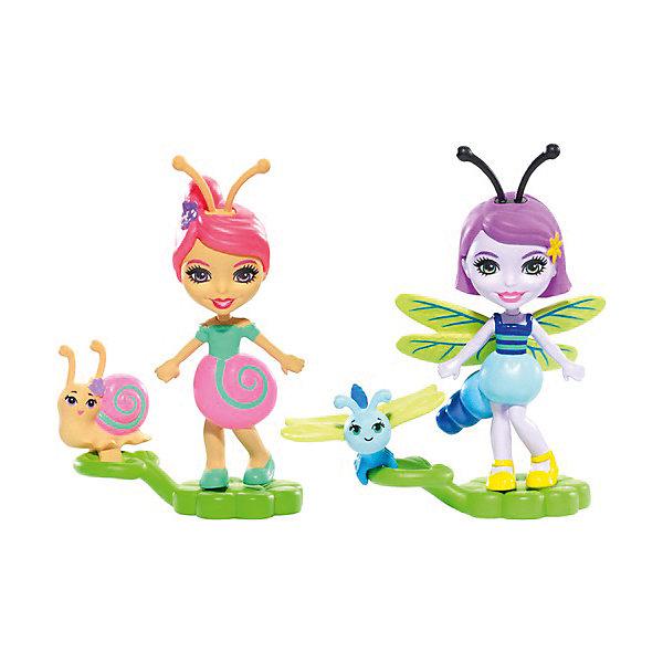 Mattel Игровой набор Enchantimals Парк лепестков Саксон Улитка и Дара Стрекоза