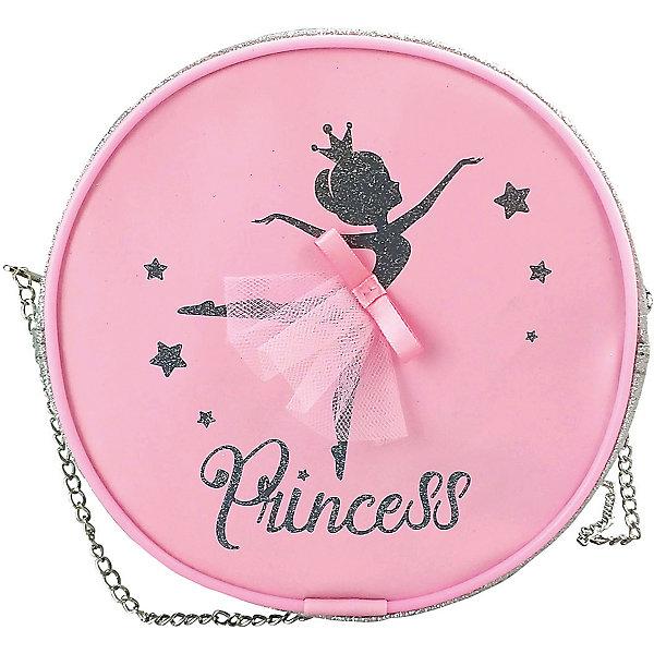 Сумочка Mary Poppins «Принцесса», 17х17х5 смДетские сумки<br>Характеристики:<br><br>• тип товара: сумочка <br>• материал: текстиль, пластик, металл<br>• размер сумочки: 17х17х5 см<br>• длина цепочки: 68 см<br>• страна бренда: Россия<br> <br><br>Стильная сумочка сделана из безопасных для детей материалов. Дизайн изделия в виде силуэта балерины, нанесенного на лицевую сторону, дополнен цепочкой вместо ремешка. Есть одно отделение на молнии.