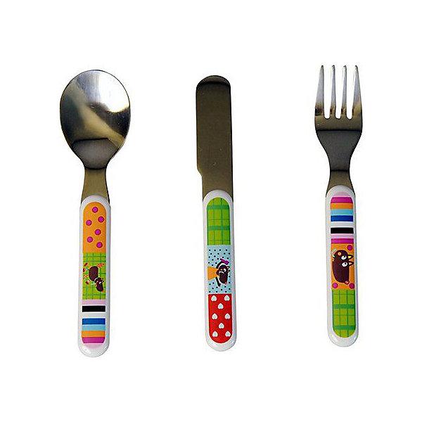 Купить Набор столовых приборов Ebulobo Волчонок , Франция, разноцветный, Унисекс