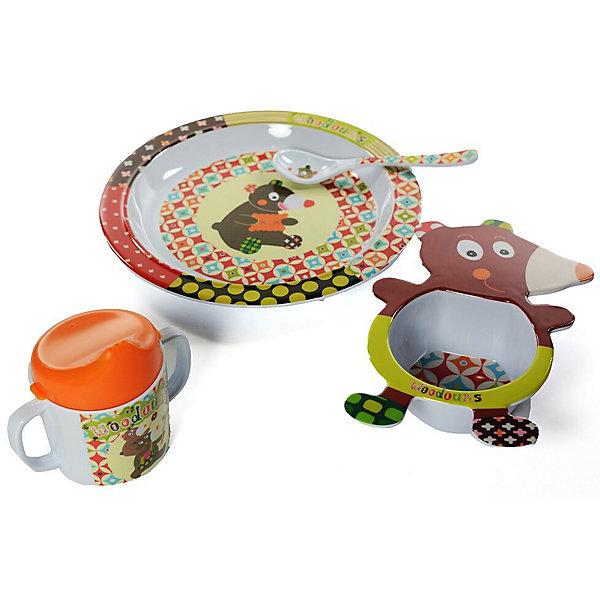 Ebulobo Набор посуды Мишка, 4 предмета