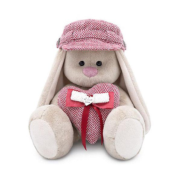Budi Basa Мягкая игрушка Budi Basa Зайка Ми в кепке и с сердцем, 18 см budi basa мягкая игрушка budi basa зайка ми ментоловая вода 18 см