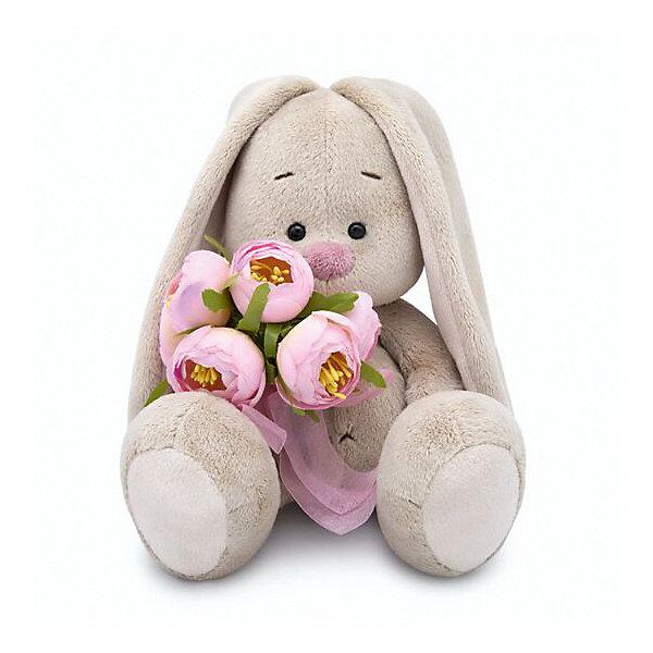 Budi Basa Мягкая игрушка Budi Basa Зайка Ми с букетом роз, 23 см budi basa мягкая игрушка budi basa зайка ми в костюмчике и с войлочной вишней 23 см