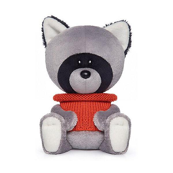 Budi Basa Мягкая игрушка лЕсята Енот Лёка в свитере, 15 см