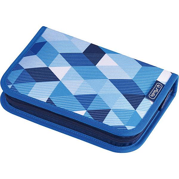 herlitz Пенал Herlitz Blue Cubes с наполнением