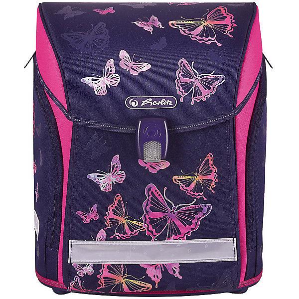 Купить Ранец Herlitz Midi New, Rainbow Butterfly, Германия, фиолетовый, Женский