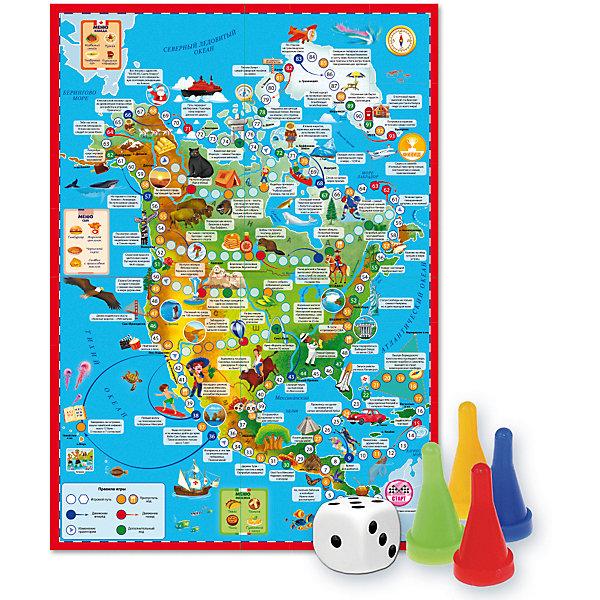 ГеоДом Настольная игра Геодом Вокруг света Северная Америка