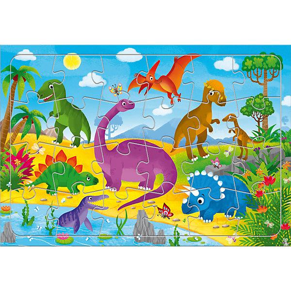 цена на ГеоДом Пазл Геодом Динозавры, 24 элемента